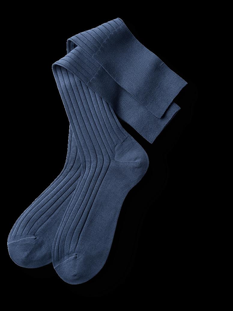 Genieße den reduzierten Preis 2019 am besten verkaufen Fabrik authentisch Kniestrümpfe in Taubenblau: Farbige Eleganz