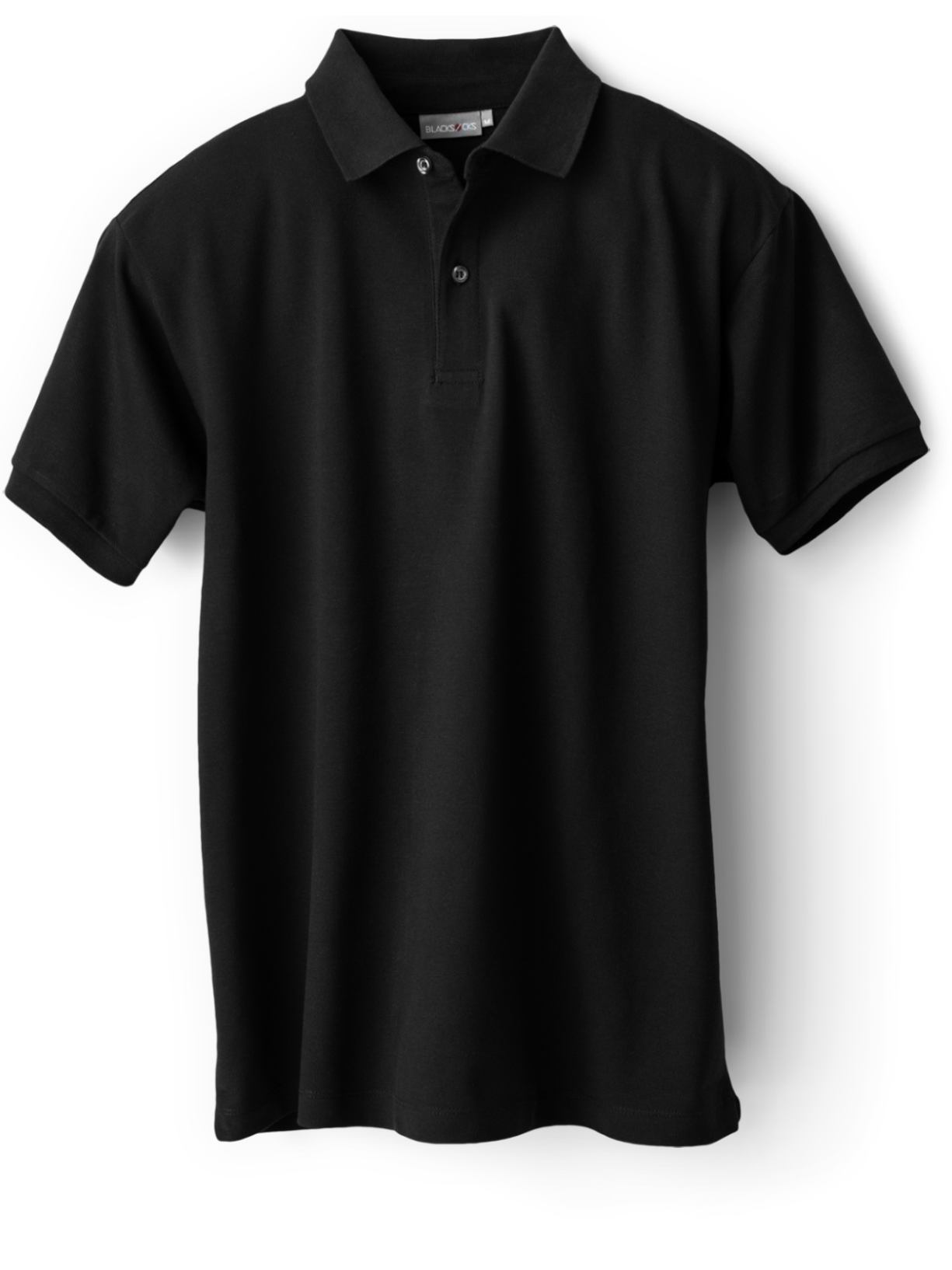 Pierrette Polo Shirt Without Any Logo On The Chest Blacksocks