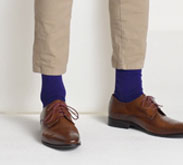 Cashmere Silk Socks in Blue