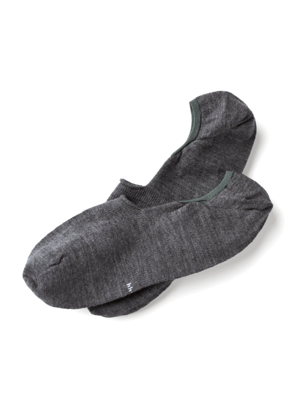 Invisible Merino Socks in Grau Melange