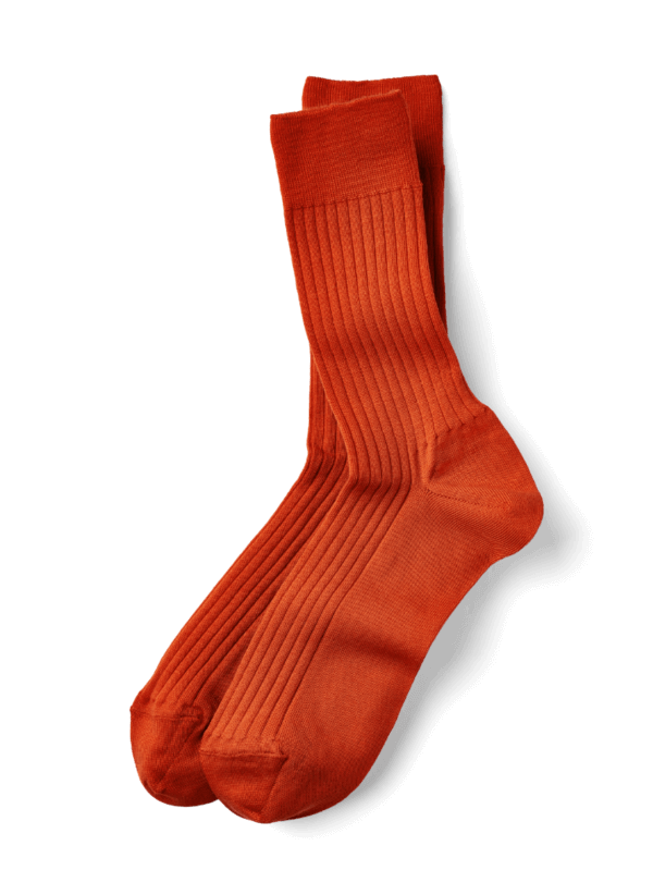 Merino Wollsocken Orange