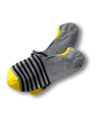 Invisible Socks Gray Stripes