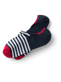 Invisible Socks Navy Stripes